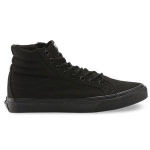 Vans T375 black canvas Sk8-hi high tops hi-top sneakers men's 4.5 women's 6